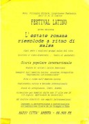 Festival latino, manifesto