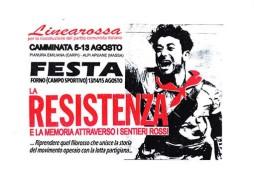 """Camminata e festa """"La resistenza e la memoria attraverso i sentieri rossi"""", manifesto"""