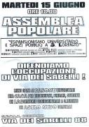 Espansionismo universitario e spazi pubblici a San Lorenzo, manifesto