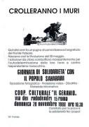 Giornata di solidarietà con il popolo saharawi, manifesto