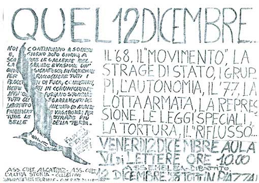 Quel 12 dicembre, manifesto