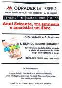 Anni settanta tra amnesia e amnistia: un libro, manifesto