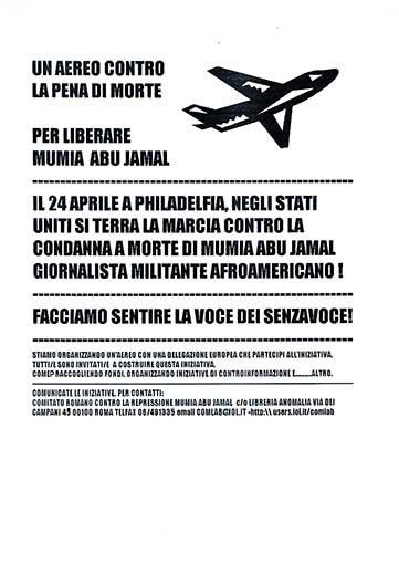 Per liberare Mumia Abu Jamal, manifesto