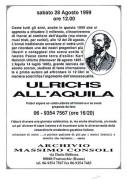 Ulrichs a L'Aquila, manifesto
