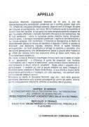 Appello. Salvatore Ricciardi, manifesto