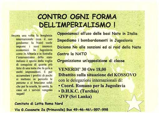 Contro ogni forma dell'imperialismo, manifesto