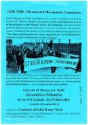 1848-1998: 150 anni del movimento comunista, manifesto