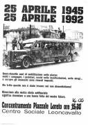 25 Aprile 1945 /1992, manifesto