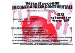 Verso il secondo incontro intercontinentale, manifesto