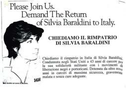Chiediamo il rimpatrio di Silvia Baraldini , manifesto