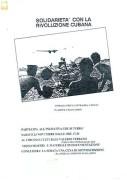 Solidarietà con la rivoluzione cubana, manifesto