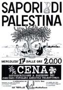 Sapori di Palestina, manifesto
