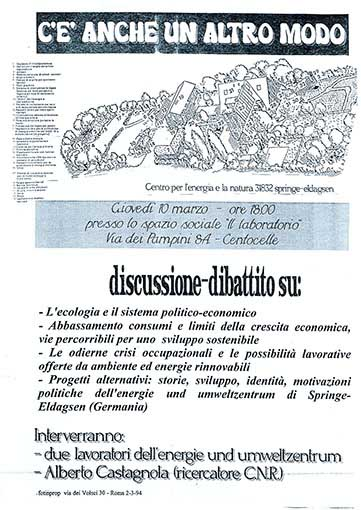 Discussione dibattito su: ecologia e ..., manifesto