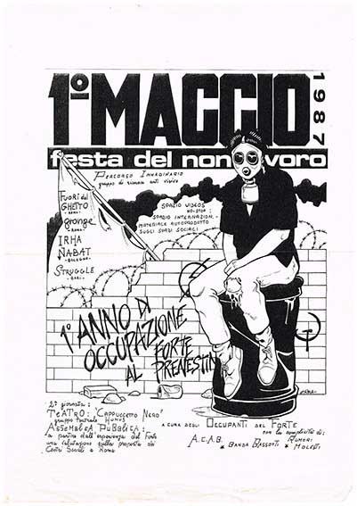 1° Maggio, festa del non lavoro, manifesto