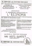 Cinque incontri-dibattito su: l'economia