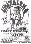 Cinque incontri-dibattiti su: l'economia, manifesto