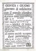 Giornata di solidarietà con il popolo irlandese, manifesto