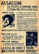 Assassini lo stato, il governo Moro e chi ha voluto la legge reale, manifesto