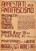 Arrestati per antifascismo, manifesto