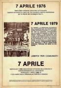 7 Aprile 1976 Mario Salvi, manifesto