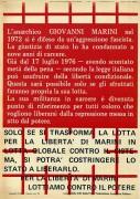 L'anarchico Giovanni Marini, manifesto
