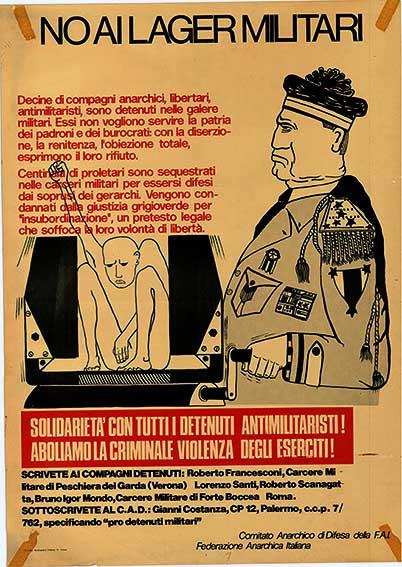 No ai lager militari, manifesto