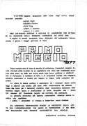 1° Maggio 1977, manifesto