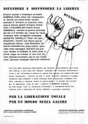 Per la liberazione totale, per un mondo senza galere, manifesto
