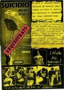 """Sequestro libro """"Suicidio, modo d'uso"""", manifesto"""