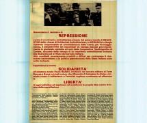 Repressione contro il movimento antimilitarista, manifesto