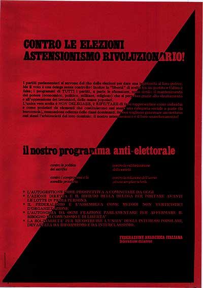 Contro le elezioni astensionismo rivoluzionario, manifesto