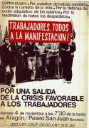 Trabajadores todos a la manifestacion, manifesto
