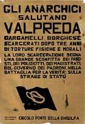 Gli anarchici salutano Valpreda, manifesto