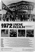 Unione inquilini, calendario 1972, manifesto