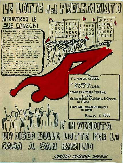 Le lotte del proletariato attraverso le sue canzoni, manifesto