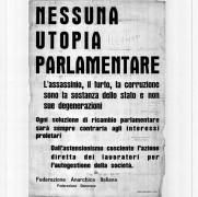 Nessuna utopia parlamentare, manifesto
