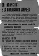 Gli anarchici e la candidatura di Valpreda, manifesto