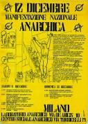 12 dicembre manifestazione nazionale anarchica, manifesto