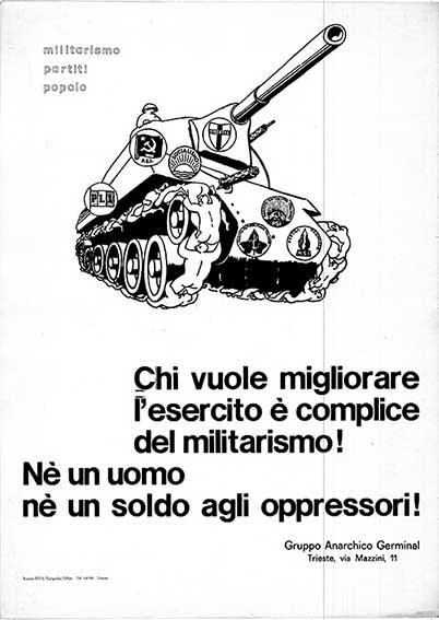 Militarismo partiti popolo, manifesto