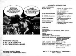 Politica abitativa a Roma, manifesto