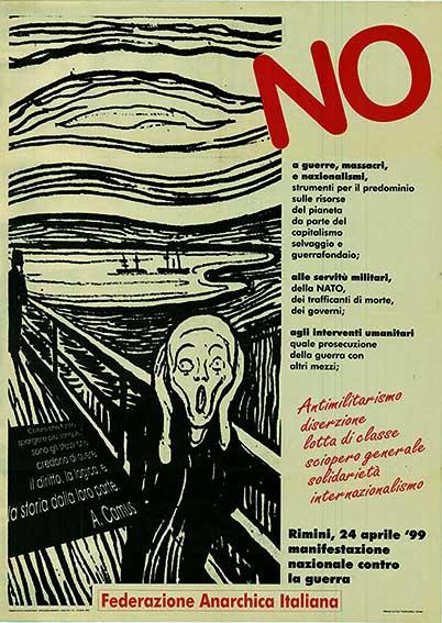 No a guerre, massacri e nazionalismi, manifesto