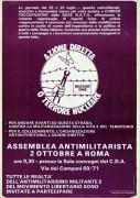 Azione diretta o terrore nucleare, manifesto