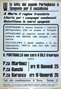 W la lotta del popolo portoghese e spagnolo per il socialismo, manifesto