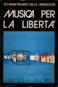 30° anniversario della liberazione manifesto