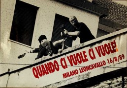 milano leoncavallo, manifesto