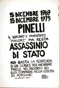 Pinelli, manifesto