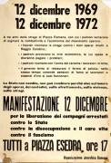 Manifestazione 12 Dicembre, manifesto