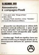assassinato il compagno Pinelli, manifesto