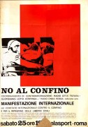 No al confino, manifesto