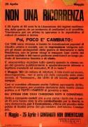 25 Aprile, 1° Maggio non una ricorrenza, manifesto